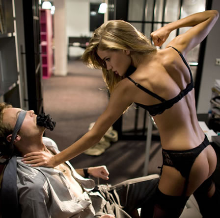 Rosie Huntington Whiteley in Agent Provocateur Ad