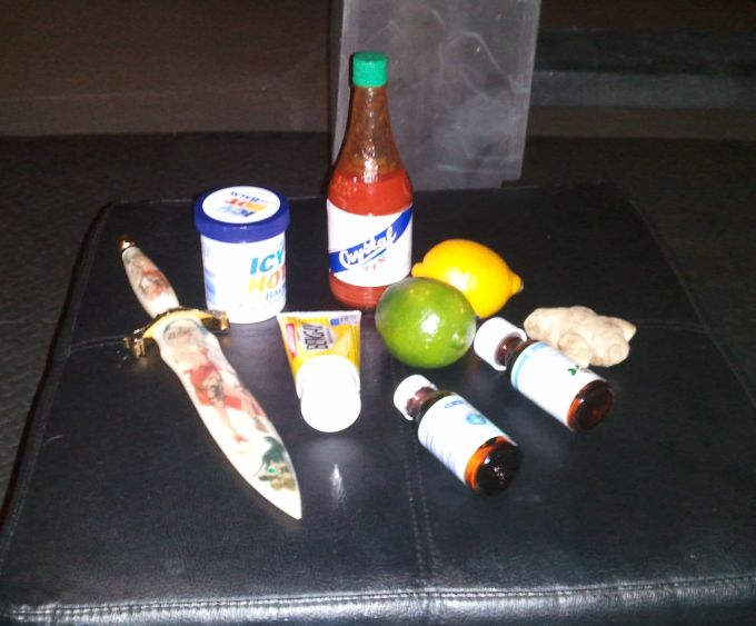 Ingredients from chemical play session
