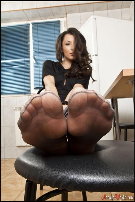 Feet from slave POV