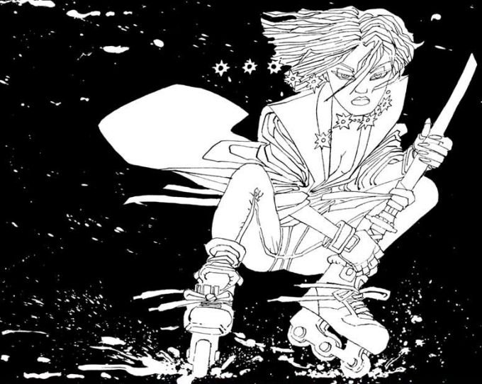 Miho as drawn by Frank Miller