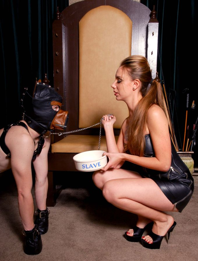 Mona Rogers with doggy slave