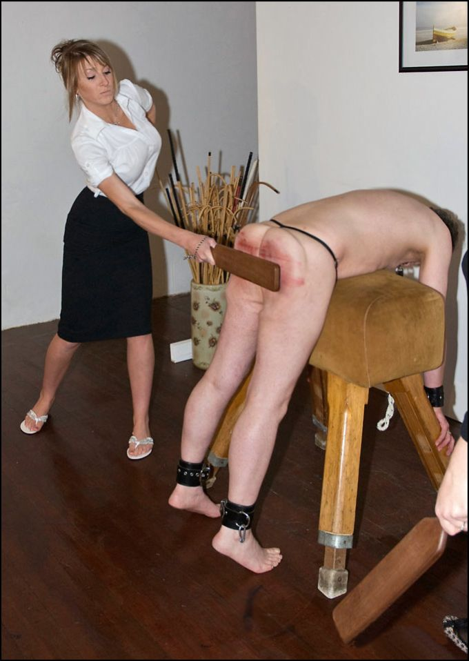 Femdom with a paddle