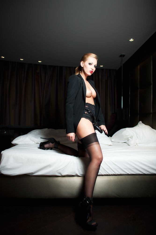 Blonde Mistress With Strap-On