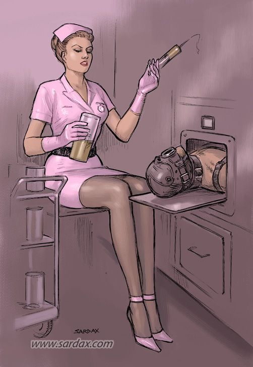 Nurse with syringe by Sardax