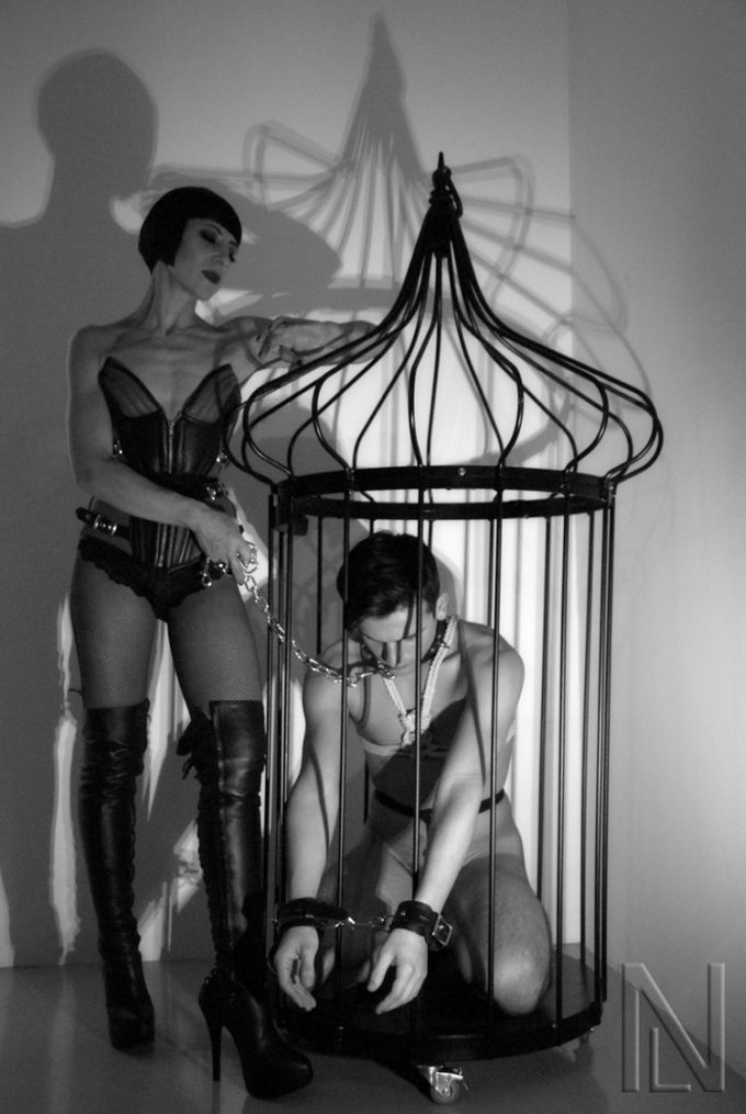 Caged with  Maitresse Nuit