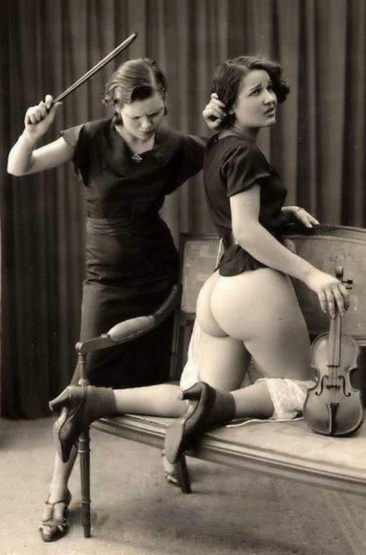 Spanking during Violin Lesson