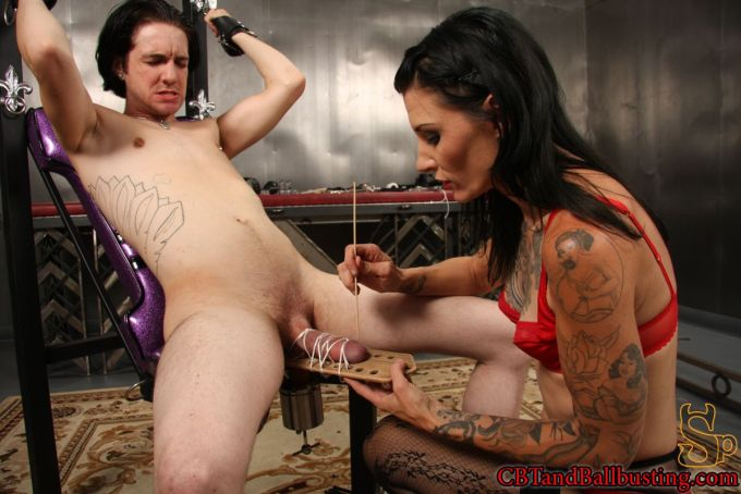 Cock Punishment Severe Cbt Male Is Subjected To Mean Handj 1