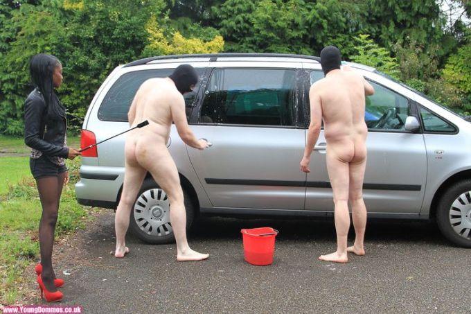 Femdom Car Cleaning